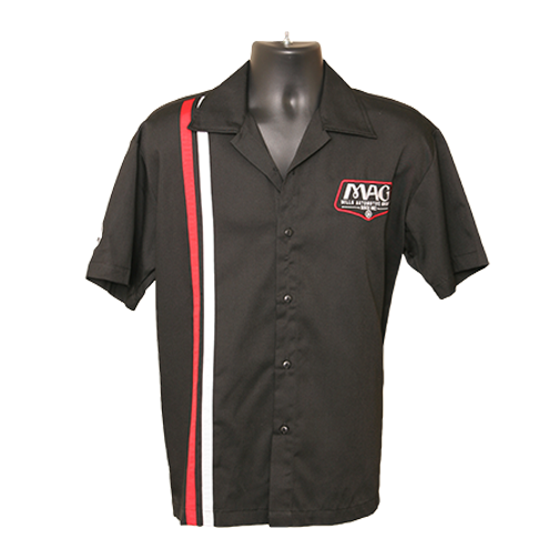 MAG Racer Stripe Shop Shirt - Black/Red/White