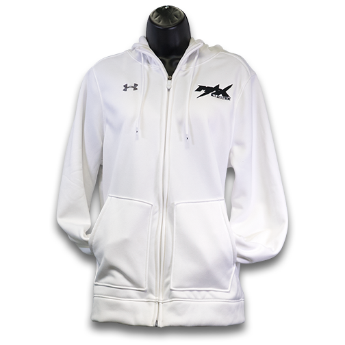 Womens MAX Under Armour Zipper Hoodie, White