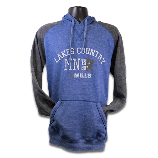 "MAG ""Lakes Country"" Raglan Hoodie - Heathered Royal/Charcoal"