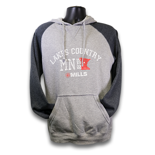 "MAG ""Lakes Country"" Raglan Hoodie - Heathered Gray/Charcoal"