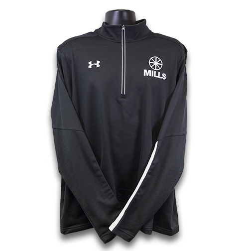 MILLS Under Armour Qualifier 1/4 Zip Fleece - Black