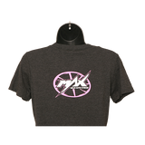 MAX Crew Neck T-Shirt - Charcoal/Pink
