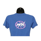 MAX Crew Neck T-Shirt - Royal/Pink