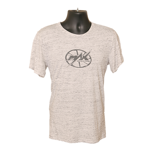 MAX Oval Logo T-shirt - WhiteMarble/Grey
