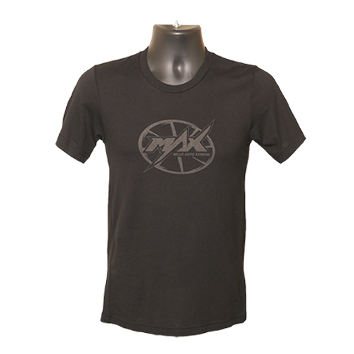 MAX Oval Logo T-shirt - Black/Black