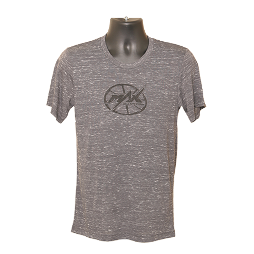 MAX Oval Logo T-shirt - Charcoal Marble/Black