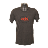 MAX Softprint T-Shirt - Logo - Charcoal/Red