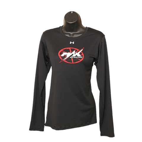 MAX UA Long Sleeve T-Shirt - Black w/ Red & White