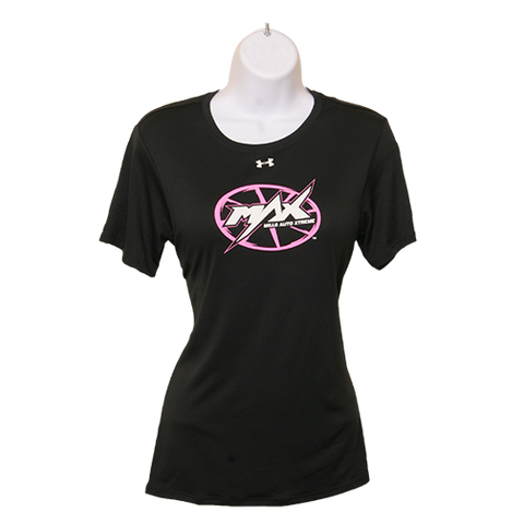 MAX Under Armour SS T-Shirt - Black/Pink/White