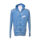 MAX Zen Zipper Hoodie MAX Oval Logo - Royal/White
