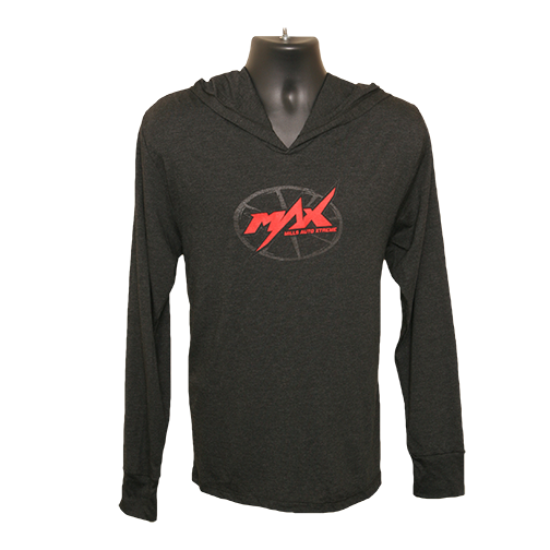 MAX Ultra-Lightweight Hoodie - Vintage Black/Red