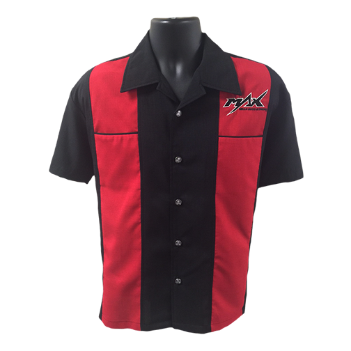 MAX Red Racer Skull Button Shirt - Black/Red