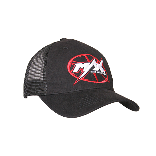 MAX Custom Snap-Back Cap - Black/Red/White