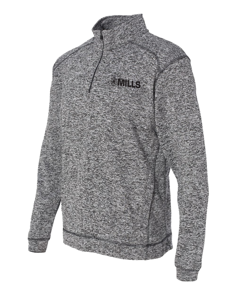 J America Cosmic Fleece 1/4 Zip Pullover - Charcoal Fleck