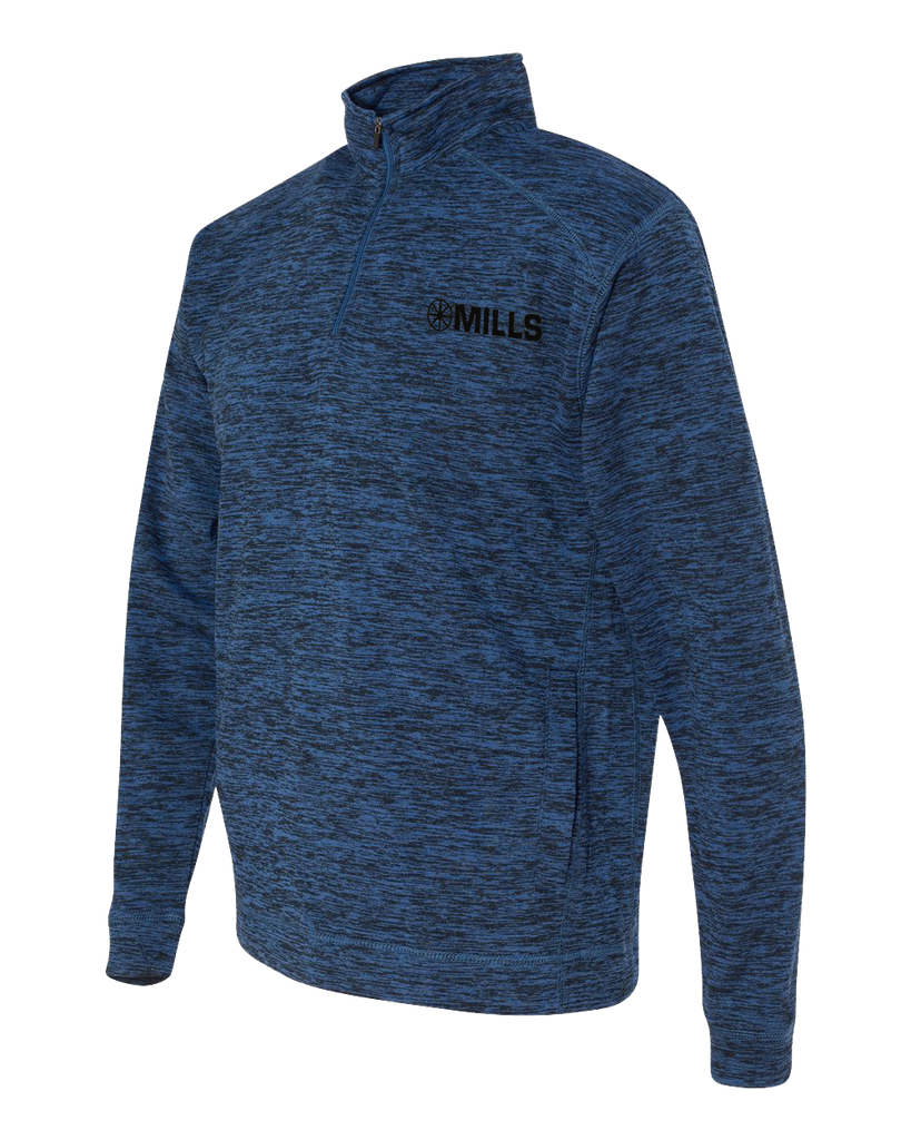 J America Cosmic Fleece 1/4 Zip Pullover - Royal Fleck