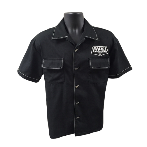 MAG Musician Button Up Shirt - Black/White