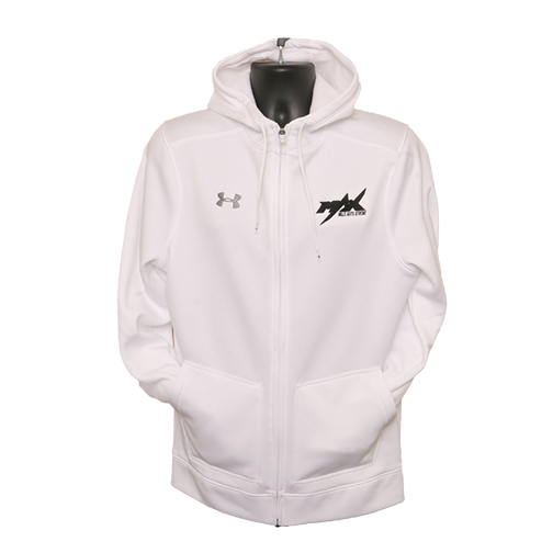 MAX Under Armour Zipper Hoodie - White