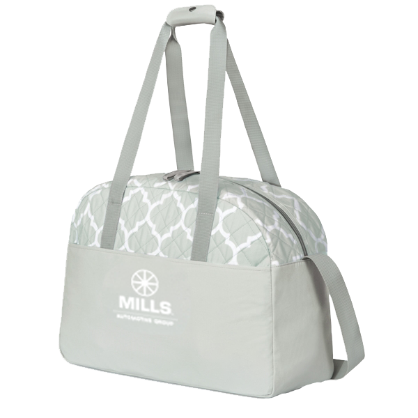 Mills Madeline Quilted Weekender Bag/Gray