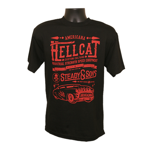 Hell Cat T-Shirt - Black/Red