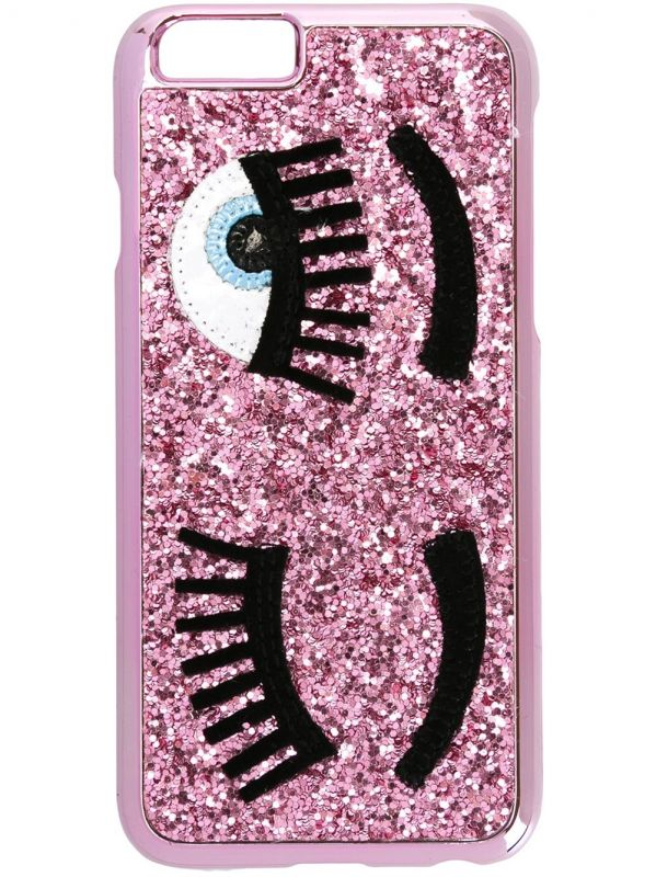 Pink Sequins Eyes Phone Case for iPhone 6/6S/7/7S
