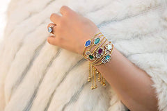 Hamsa Mother of Pearl Gold Bracelet