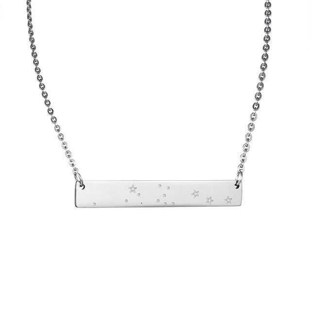 Aquarius Zodiac Constellation Bar Necklace