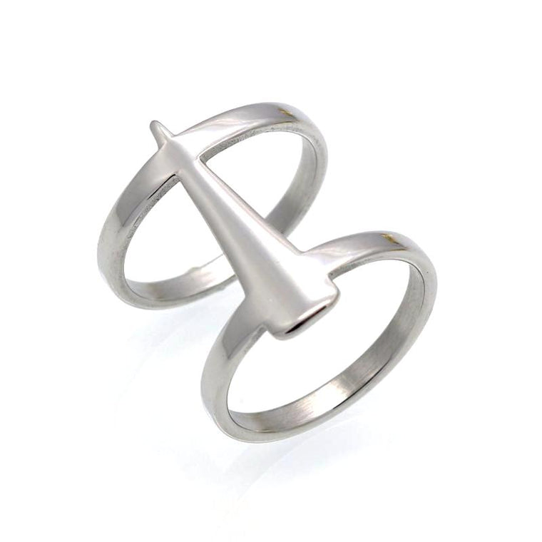 Athena Silver Cusp Ring