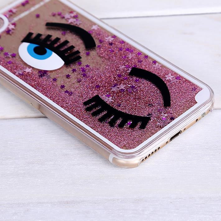 Pink Glitter Star Quicksand Phone Case for iPhone 6/6S