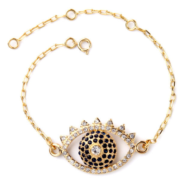 Evil Eye Bracelet with Rhinestones