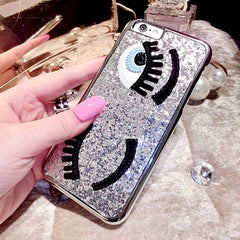 Silver Sequins Eyes Phone Case for iPhone 6/6S/7/7S