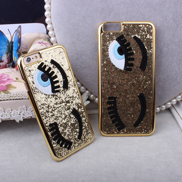 Gold Sequins Eyes Phone Case for iPhone 6/6S - Lulugem.com