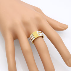 Hera Gold Crystal Band Ring