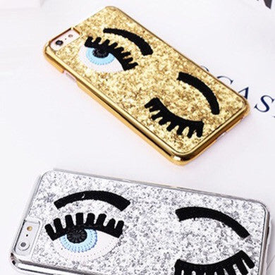 Gold Sequins Eyes Phone Case for iPhone 7/7S