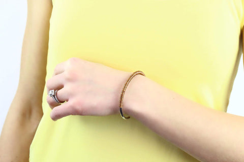 Leather Bangle Open Cuff Bracelet