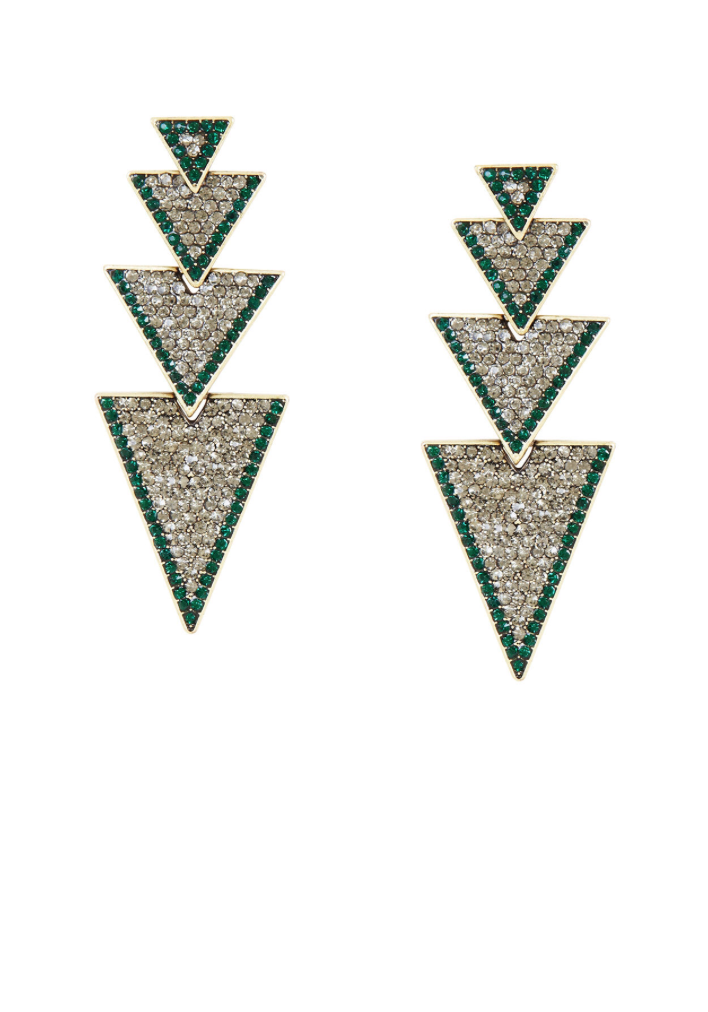Tiered Triangle Drop Earrings
