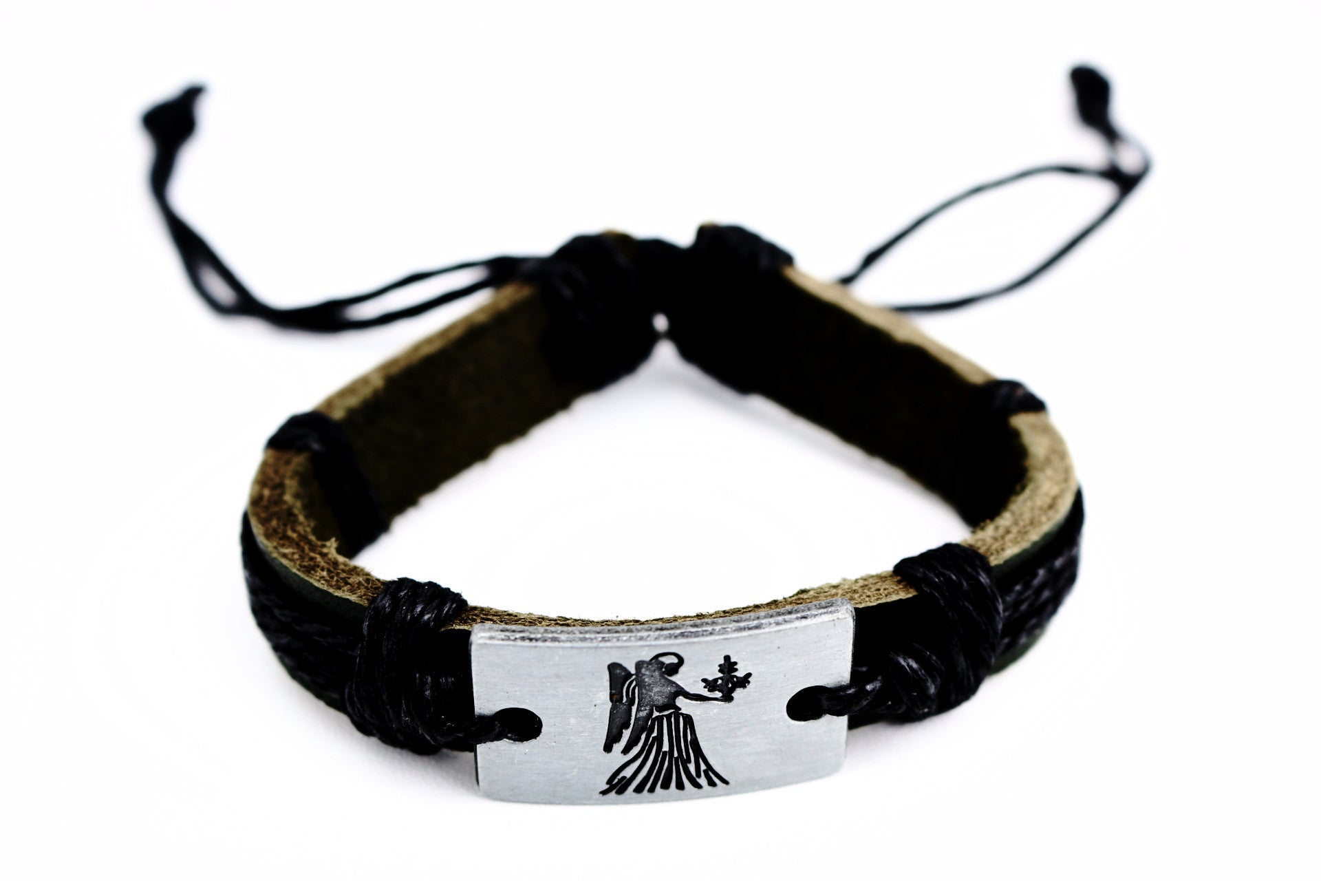 Virgo Leather Cuff Bracelet - Lulugem.com