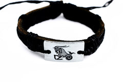 Capricorn Leather Cuff Bracelet - Lulugem.com