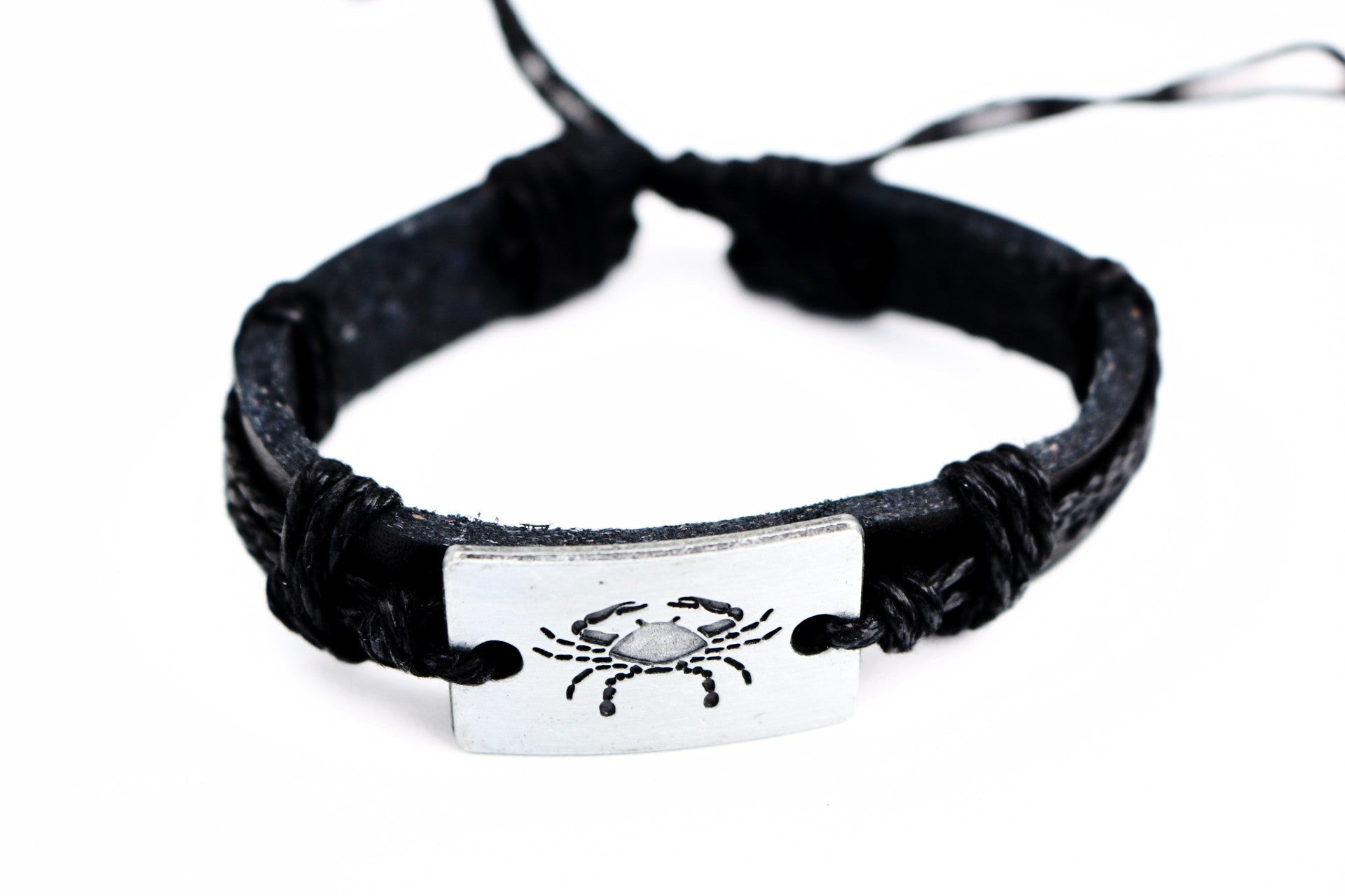 Cancer leather Cuff Bracelet - Lulugem.com