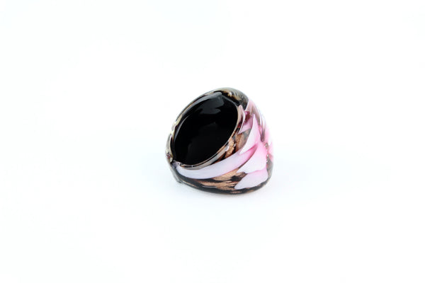 Hand-Blown Glass Flower Ring