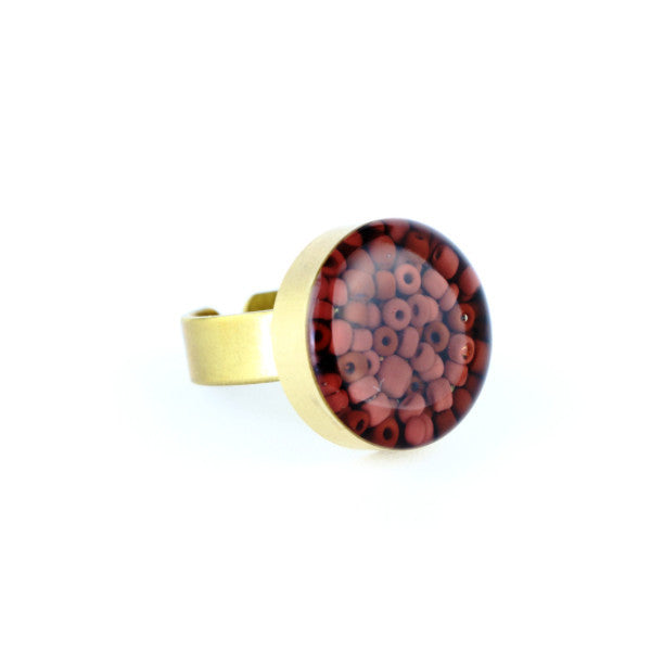 Jasper Beads Gemstone Ring - Lulugem.com