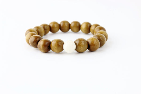 His Mala SandalWood and Jasper Bracelets