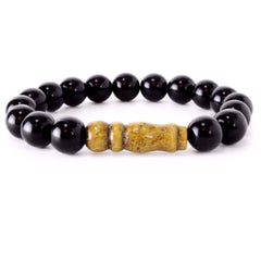 His Mala Jasper and SandalWood Bracelet - Lulugem.com