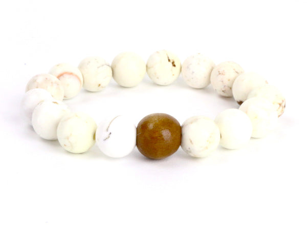 Her Mala Jasper and SandalWood Bracelet