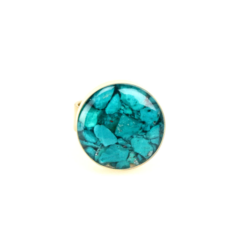 Crushed Turquoise Gemstone Ring