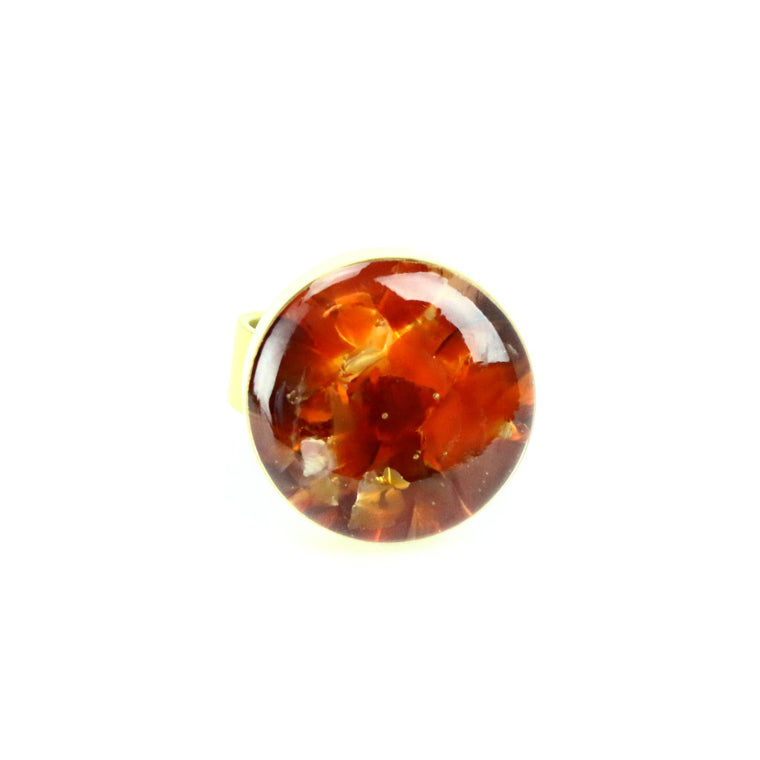 Crushed SunStone Gemstone Ring