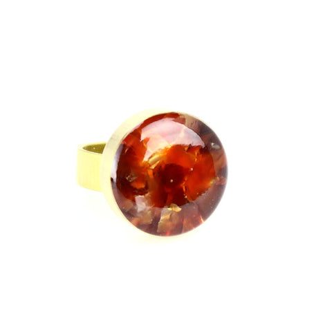 Crushed SunStone Gemstone Ring - Lulugem.com