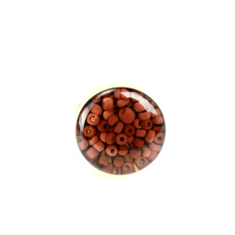 Jasper Beads Gemstone Ring