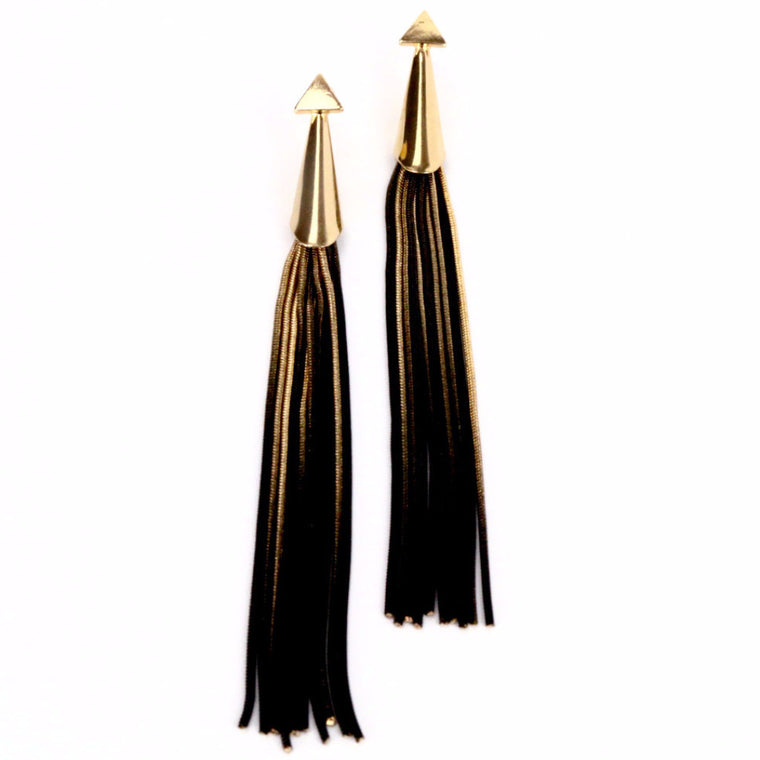 Ombre Chain Drop Gold Earrings