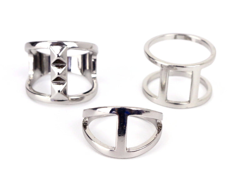 Silver Ring Pack Set
