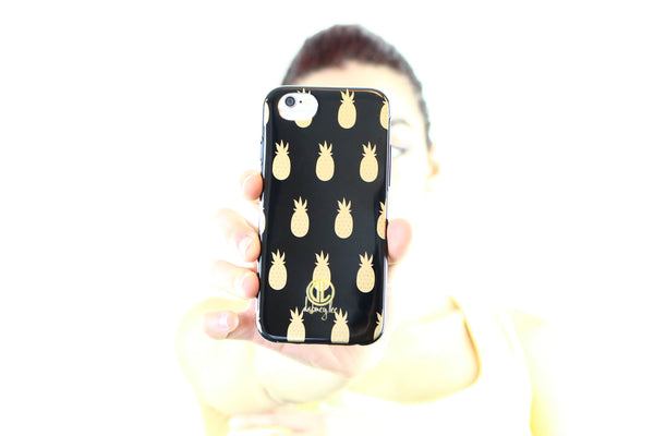 Pineapple Black Phone Case for iPhone 6/6S